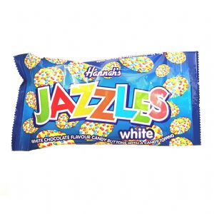 White Chocolate Hannah's Jazzles Jazzies - Candy Buttons Sweets 40g